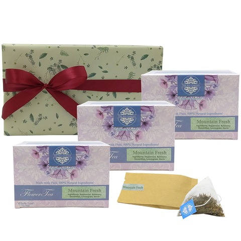 Trio Mountain Fresh Flower Tea Gift Set