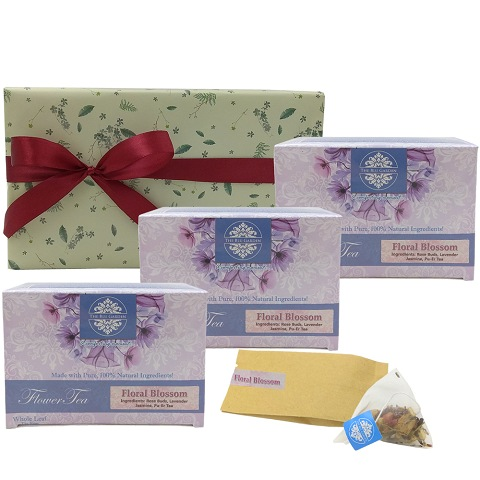 Trio Floral Blossom Flower Tea Gift Set