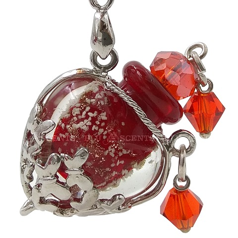 Bliss with Ruby Red Love Aroma Necklace