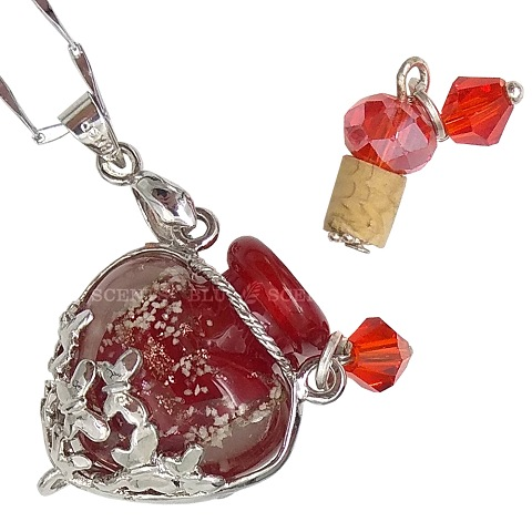 Food For Soul with Ruby Red Love Aroma Necklace